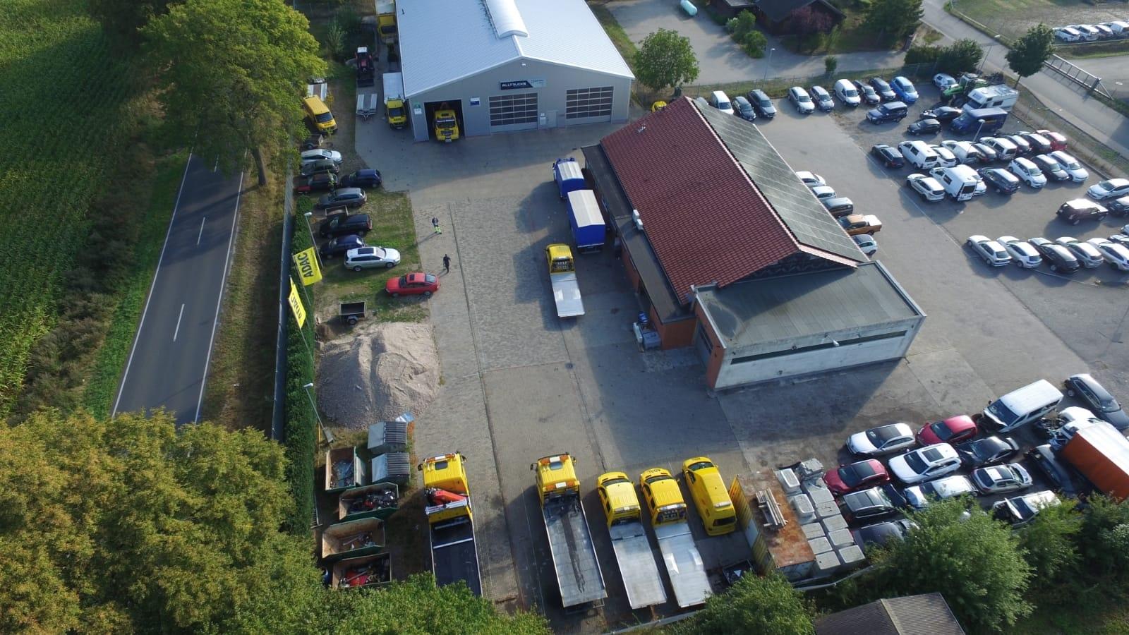 Luftaufnahme Autoservice Hodenhagen - PKW & LKW Werkstatt | Mietwagen | ADAC Abschleppdienst